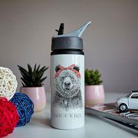 "Бутылка для воды ""Ломай правила. Медведица"" (600 мл)"