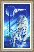 "Вышивка бисером ""Белый тигр"" (400х240 мм)"