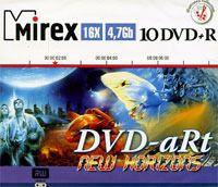Диск DVD+R 4.7Gb 16x Mirex DVD-aRt New Horizons (пластиковое портмоне на 10 дисков)