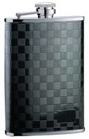 """Фляга (0,27 л, черная с рисунком """"шашки"""")"""