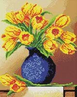 "Алмазная вышивка-мозаика ""Весенние тюльпаны"" (400х500 мм)"