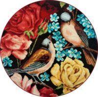 """Вышивка крестом """"Синицы и цветы"""" (280х280 мм; арт. X-1138)"""