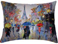 "Подушка ""Париж"" (45x35 см; синяя; арт. 08-583)"
