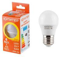 Лампа светодиодная Шар G45 6 Вт/3000/Е27