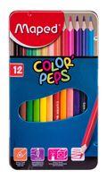 """Цветные карандаши """"Color Peps"""" в металлическом пенале (12 штук)"""