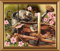 """Вышивка крестом """"Птичий календарь. Весна"""""""