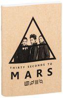 """Блокнот крафт """"30 seconds to Mars"""" (А5; арт. 144)"""