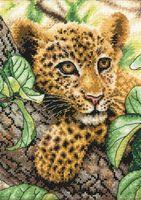 """Вышивка крестом """"Молодой леопард"""" (120x170 мм)"""