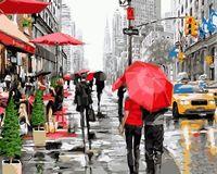 """Картина по номерам """"Дождь в Нью-Йорке"""" (500х650 мм)"""
