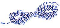 Шнур декоративный (бело-синий; 2 мм; 2 м)