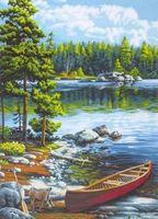 "Картина по номерам ""Каноэ у озера"" (510х360 мм; арт. DMS-73-91446)"