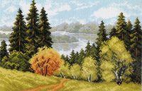 """Канва с нанесенным рисунком """"Осеннее очарование"""""""