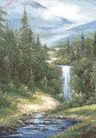 """Вышивка крестом """"Водопад"""" (390х290 мм)"""