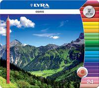 """Цветные карандаши """"OSIRIS"""" (24 цвета; металлическая коробка)"""