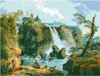 """Канва с нанесенным рисунком """"Водопад"""""""