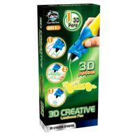 3D ручка детская FITFUN Y8801-1A (жёлтая; светящиеся чернила)