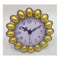 Часы настольные (желтые; 11х11 см)