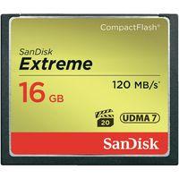 Карта памяти Compact Flash 16Gb SanDisk Extreme 120MB/s (SDCFXS-016G-X46)