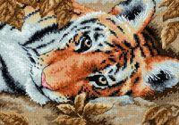 """Вышивка крестом """"Притягательный тигр"""" (180х130 мм)"""