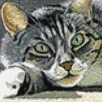 "Алмазная вышивка-мозаика ""Сытый кот"" (200х200 мм)"