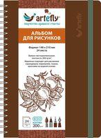 """Альбом для рисунков """"Artefly"""" (А5; коричневый)"""