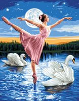 "Картина по номерам ""Лебединое озеро"" (400х500 мм)"