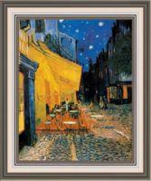 "Вышивка крестом ""Ван Гог. Ночная терраса кафе"" (300х370 мм)"