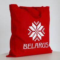"""Сумка для покупок Vitaem """"Belarus"""" (красная, короткие ручки)"""