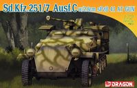 "Полугусеничный бронетранспортер ""Sd.Kfz.251/7 Ausf.C w/2.8cm Spzb 41 AT Gun"" (масштаб: 1/72)"