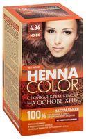 """Крем-краска для волос """"Henna Color"""" (тон: 4.36, мокко)"""