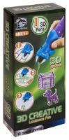 3D ручка детская FITFUN Y8801-1C (фиолетовая; светящиеся чернила)