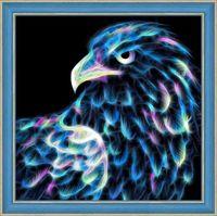 """Алмазная вышивка-мозаика """"Неоновый орёл"""" (250х250 мм)"""