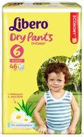 """Подгузники-трусики для детей """"Libero Dry Pants 6"""" (13-20 кг; 46 шт)"""