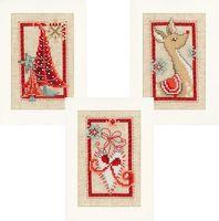 """Вышивка крестом """"Символы Рождества"""" (105x105 мм; 3 шт.)"""