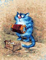 "Картина по номерам ""Кот с гармошкой"" (400х500 мм)"