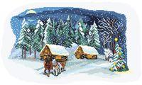 """Вышивка крестом """"Рождественская сказка"""" (400х260 мм)"""