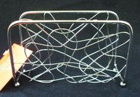 Подставка для салфеток металлическая (13х8х5 см)