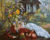 """Картина по номерам """"Деревня летом"""" (400х500 мм)"""