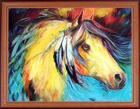 """Вышивка пайетками """"Лошадь"""" (300х400 мм)"""