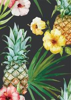 "Открытка ""Цветы и ананасы"""