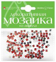 Мозаика декоративная из акрила №7 (4х4 мм; 200 шт.; красный)