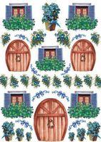 """Бумага для декупажа рисовая """"Двери и окошки"""" №4 (210х300 мм)"""