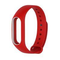 Ремешок для Xiaomi Mi Band 2 (красный с белым)