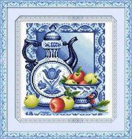 """Алмазная вышивка-мозаика """"Гжель"""" (370х400 мм; арт. 7711704)"""