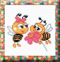 "Вышивка крестом ""Пчелки"" (120x150 мм)"