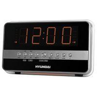 Радиобудильник Hyundai H-1549 (серебро/оранжевый)