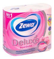 """Туалетная бумага """"Zewa Deluxe. Орхидея"""" (4 рулона)"""