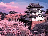 """Картина по номерам """"Замок Хиросаки и сакура"""" (400х500 мм)"""
