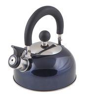 Чайник металлический со свистком (1,2 л; синий металлик)