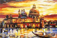 """Картина по номерам """"Закат в Венеции"""" (400х500 мм)"""